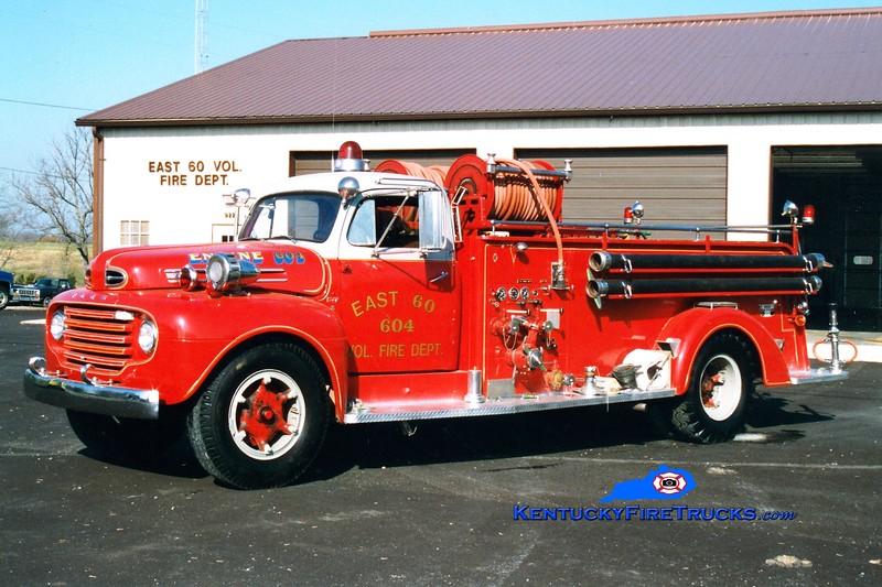 <center> RETIRED <br> East 60  Engine 604  <br> x-Middletown, KY <br> 1951 Ford/Boyer 750/500  <br> Greg Stapleton photo </center>