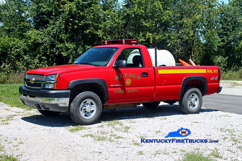 <center> RETIRED <br> Mt Eden  Brush 9971  <br> 2004 Chevy 3500 4x4 125/225 <br> Kent Parrish photo </center>