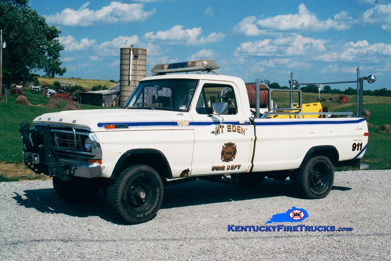 <center> RETIRED <br> Mt Eden  Engine 9972  <br> x-Shelby County, KY <br> 1972 Ford F-250 4x4 250/250 <br> Greg Stapleton photo </center>