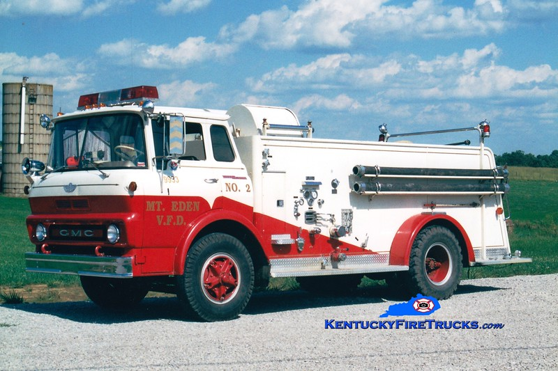 <center> RETIRED <br> Mt Eden  Engine 2  <br> 1965 GMC/American 500/750 <br> Greg Stapleton photo </center>