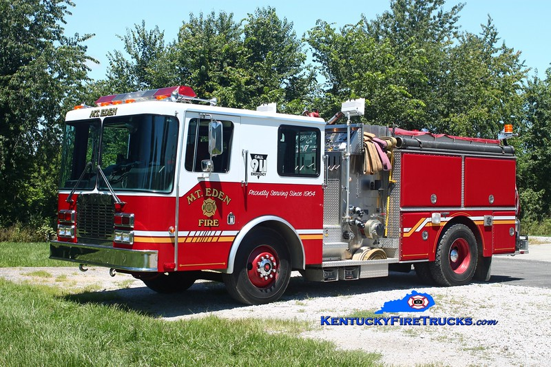 <center> RETIRED <br> Mt Eden  Engine 9931  <br> x-Union, KY <br> 1991 HME/Grumman Panther II 1500/1000 <br> Kent Parrish photo </center>