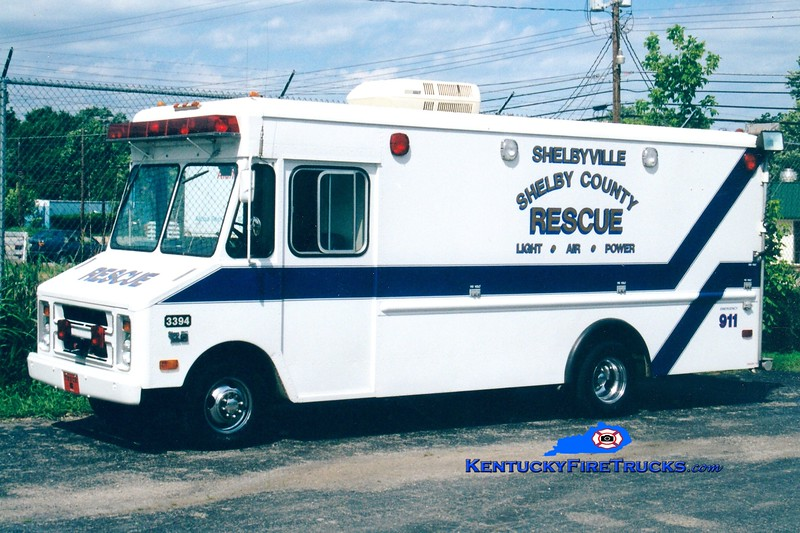 <center> RETIRED <br> Shelby County  Support 3394  <br> 1982 Chevy StepVan <br> Greg Stapleton photo </center>