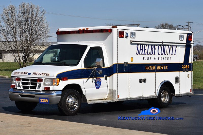 Shelby County  Rescue 3389<br /> x-Shelby County EMS<br /> 1990 Ford E-350/Wheeled Coach/2016 SCFD<br /> Greg Stapleton photo