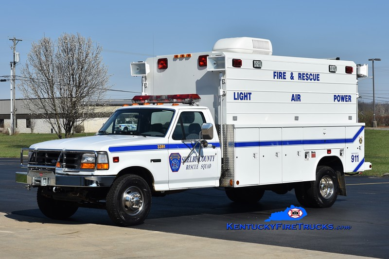 Shelby County Unit 3391<br /> 1994 Ford F-350 4x4/Reading Air/Light Unit<br /> Greg Stapleton photo