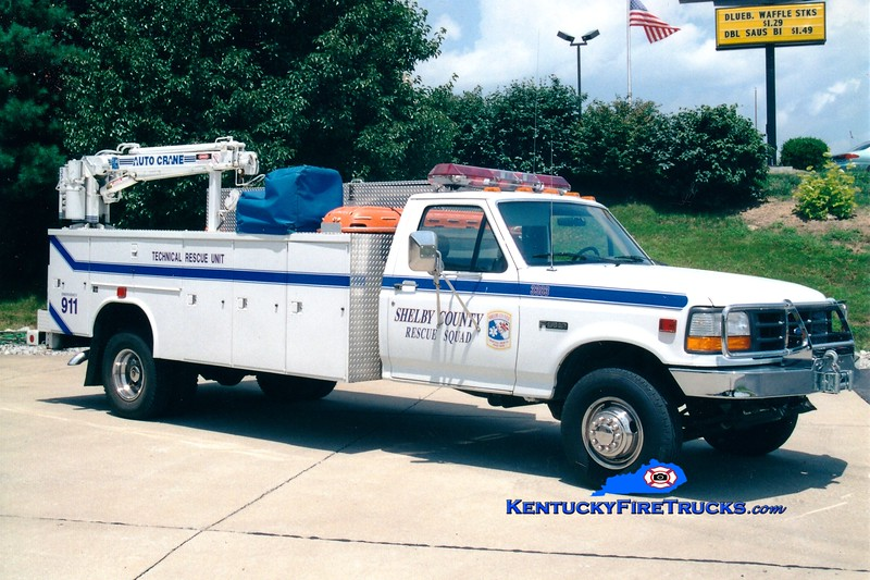 <center> RECHASSIS <br> Shelby County  Rescue 3382  <br> 1994 Ford F-350 4x4/Reading <br> Greg Stapleton photo </center>