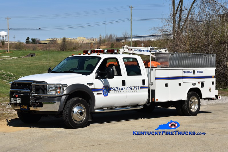 Shelby County  Rescue 3382<br /> 2005 Ford F-450 4x4/1994 Reading<br /> Greg Stapleton photo