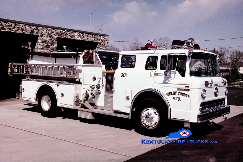 RETIRED <br /> Shelby County Engine 301<br /> 1982 Ford C-8000/Grumman 1250/600/25<br /> Greg Stapleton photo