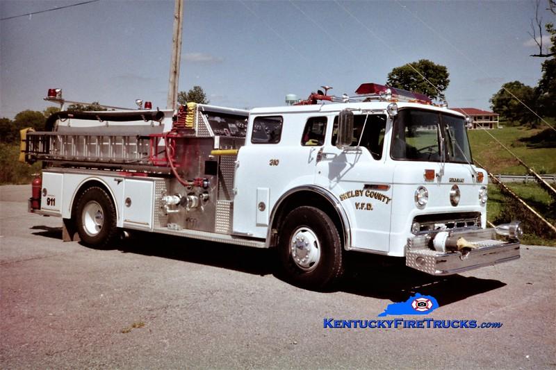 RETIRED <br /> Shelby County Engine 310<br /> 1987 Ford C-8000/Grumman 1250/600/25<br /> Greg Stapleton photo