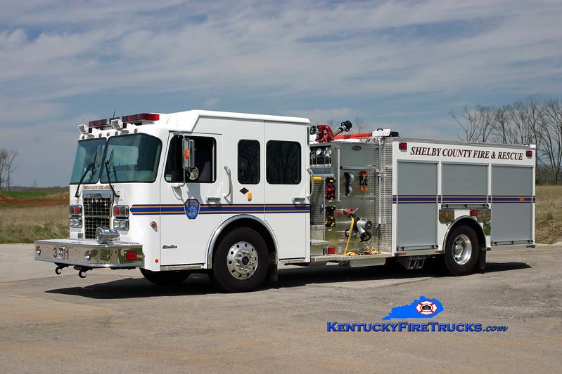<center> Shelby County  Engine 3331  <br> 2008 Spartan MetroStar/Toyne 1250/750/30<br> Kent Parrish photo </center>