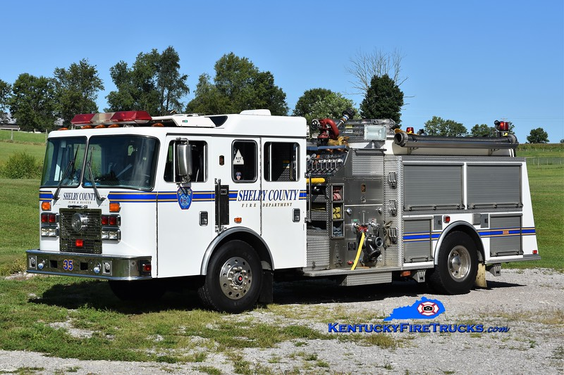 Shelby County Engine 3335<br /> x-Engine 3334<br /> 1995 KME Renegade 1250/750<br /> Greg Stapleton photo