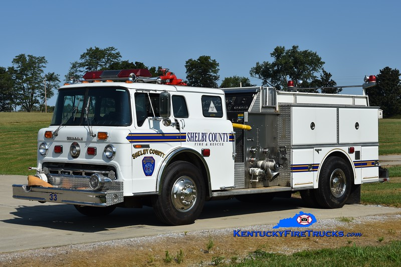 RESERVE <br /> Shelby County Engine 3333<br /> x-Engine 3332 <br /> 1987 Ford C-8000/Grumman 1250/600/25<br /> Greg Stapleton photo