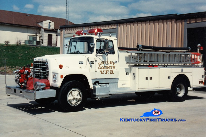 REASSIGNED <br /> Shelby County Engine 3326 <br /> 1972 Ford L/Darley 750/800 <br /> Greg Stapleton photo