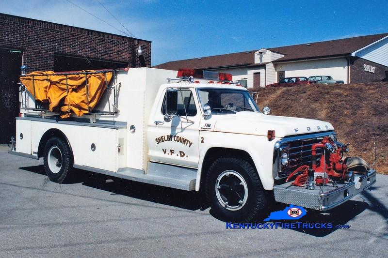 RETIRED <br /> Shelby County  Engine 302<br /> 1975 Ford F-750/Amthor 400/1250<br /> Greg Stapleton photo