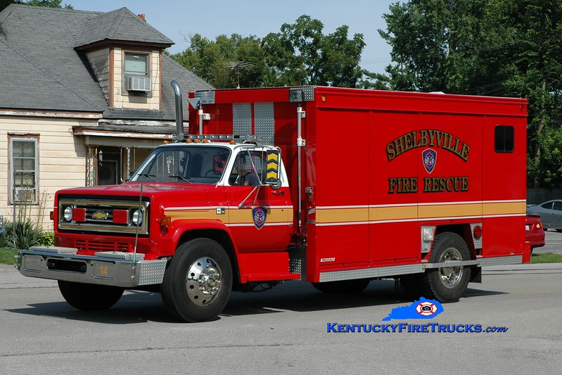 <center> RETIRED <br> Shelbyville  Rescue 14  <br> 1989 Chevy C70/Reliable/Hesse  <br> Greg Stapleton photo </center>