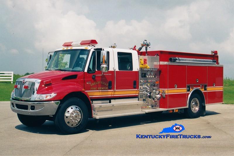 Shelbyville Engine 22<br /> 2002 International 4400/KME 1500/1000<br /> Greg Stapleton photo