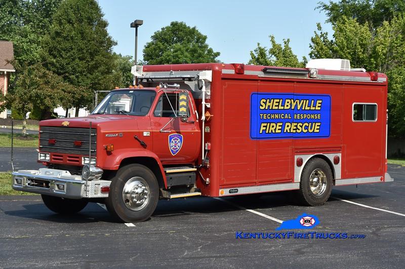 Shelbyville Hazmat 14<br /> x-General Electric Appliance Park, KY & Flaherty, KY<br /> 1988 Chevy Kodiak/Hackney<br /> Greg Stapleton photo