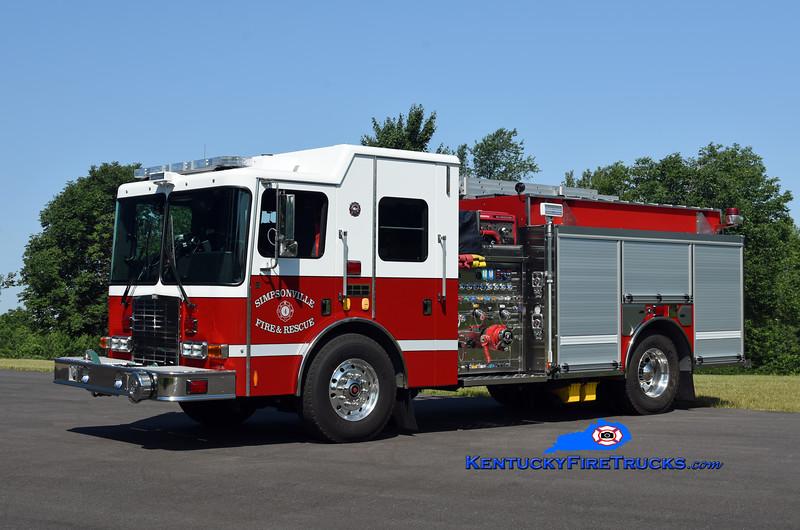 Simpsonville  Engine 4432<br /> 2017 HME 1871-SFO Silverfox 1250/1000<br /> Kent Parrish photo