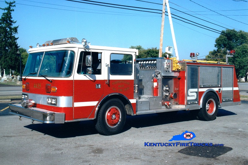 <center> RETIRED <br> Simpsonville  Engine 4435  <br> x-Palm Beach County, FL <br> 1981 Pierce Arrow 1500/500 <br> Greg Stapleton photo </center>
