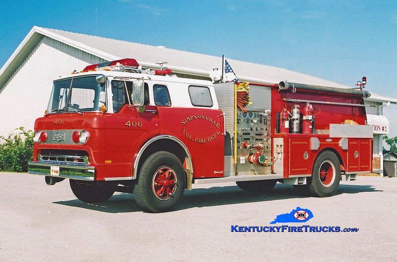 <center> RETIRED <br> Simpsonville  Reserve Engine 4422  <br> 1980 Ford C-900/Pirsch 1000/750<br> Kent Parrish photo </center>