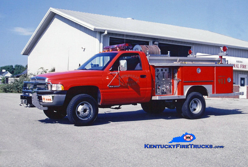 <center> Simpsonville  Brush 4473 <br> 1994 Dodge 3500 4x4/1979 E-One 250/250 <br> Kent Parrish photo </center>