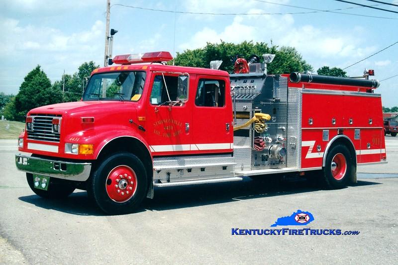 <center> RETIRED <br> Simpsonville  Engine 4432  <br> 1993 International 4900/KME 1250/1000 <br> Greg Stapleton photo </center>