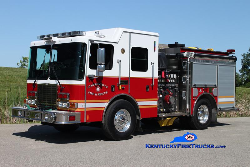 """<center> Simpsonville  Engine 4431  <br> 2010 HME 1871-SFO """"RAT"""" 1500/500/30 <br> Kent Parrish photo </center>"""