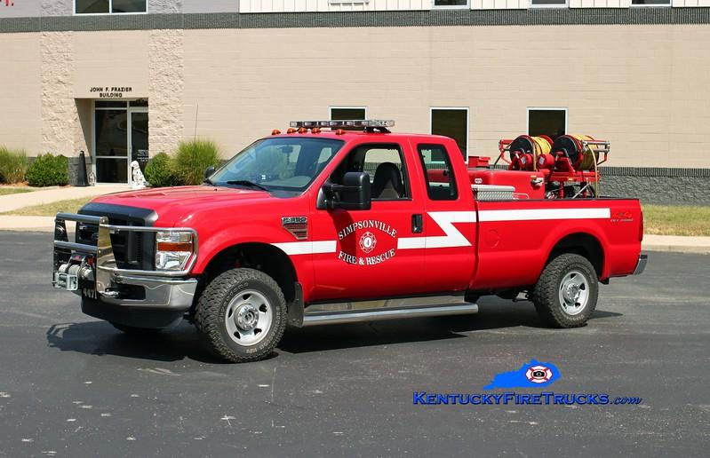 <center> Simpsonville  Brush 4471 <br> 2008 Ford F-350 4x4/Mertz 250/200 <br> Kent Parrish photo </center>