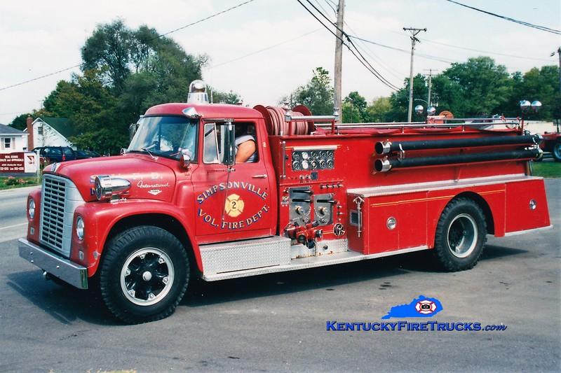 Simpsonville  Parade Engine<br /> x-Engine 402<br /> 1964 International Loadstar/Pirsch 750/500<br /> Greg Stapleton photo