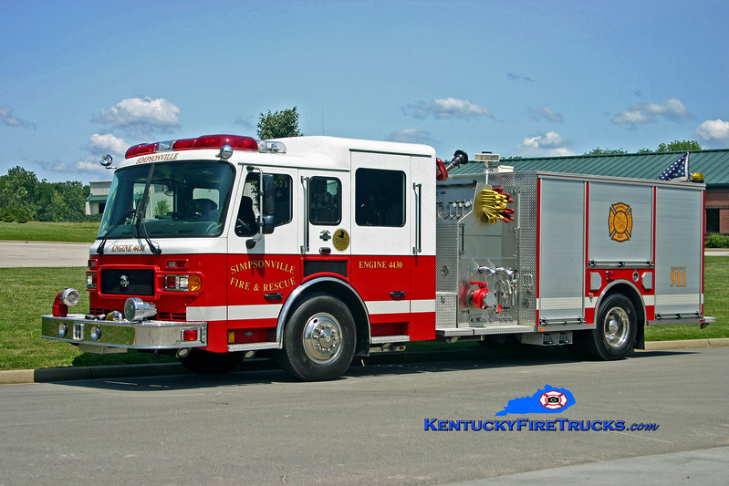 <center> Simpsonville  Engine 4430  <br> 2004 American LaFrance Metropolitan 1500/1000 <br> Kent Parrish photo </center>