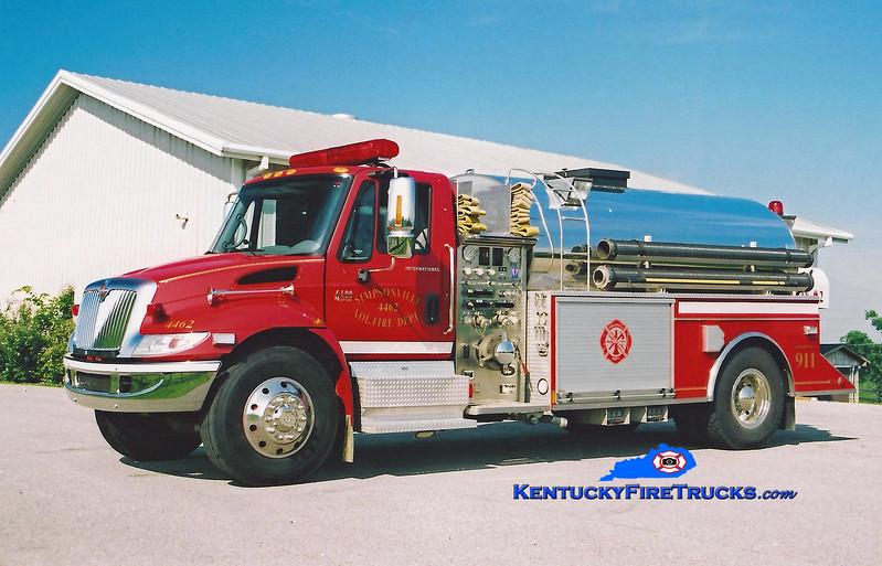 <center> Simpsonville  Tanker 4462 <br> 2003 International 4400/US Tanker 1000/2000<br> Kent Parrish photo </center>