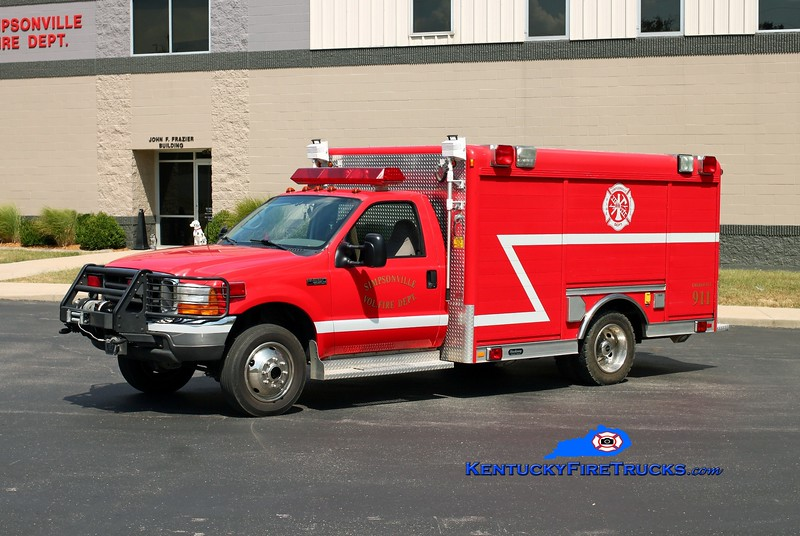 <center> Simpsonville  Rescue 4481 <br> 2000 Ford F-550 4x4/Hackney  <br> Kent Parrish photo </center>