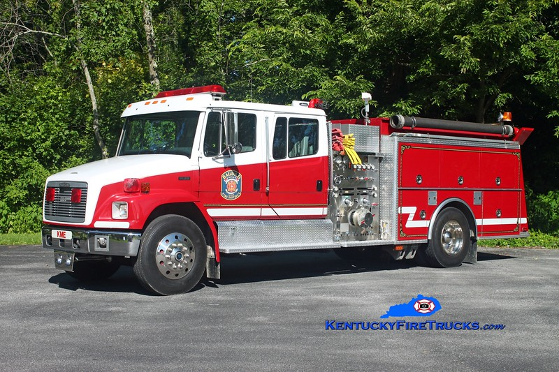 <center> Bagdad  Engine 7731  <br> 1993 Freightliner FL80/KME 1250/1000 <br> Kent Parrish photo </center>