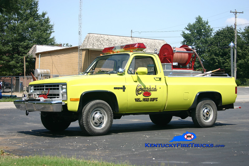 <center> RETIRED <br> Bagdad  Brush 6671   <br> 1984 Chevy 3500 4x4 250/250 <br> Kent Parrish photo </center>