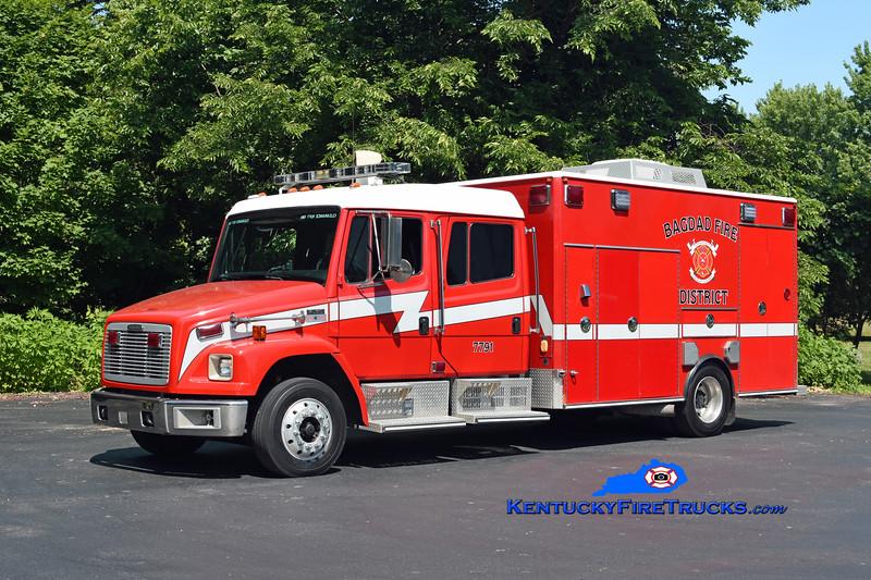 Bagdad  Support 7791<br /> 2003 Freightliner FL60/American LaFrance-Medic Master<br /> Kent Parrish photo