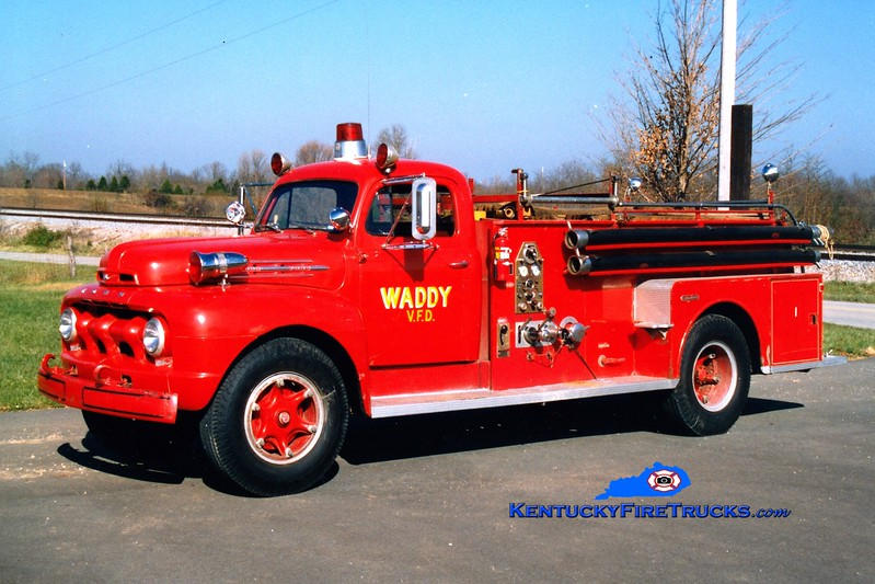 <center> RETIRED <br> Waddy  Engine 802 <br> x-General Electric Appliance Park, KY <br> 1952 Ford/Seagrave 500/300 <br> Greg Stapleton photo </center>