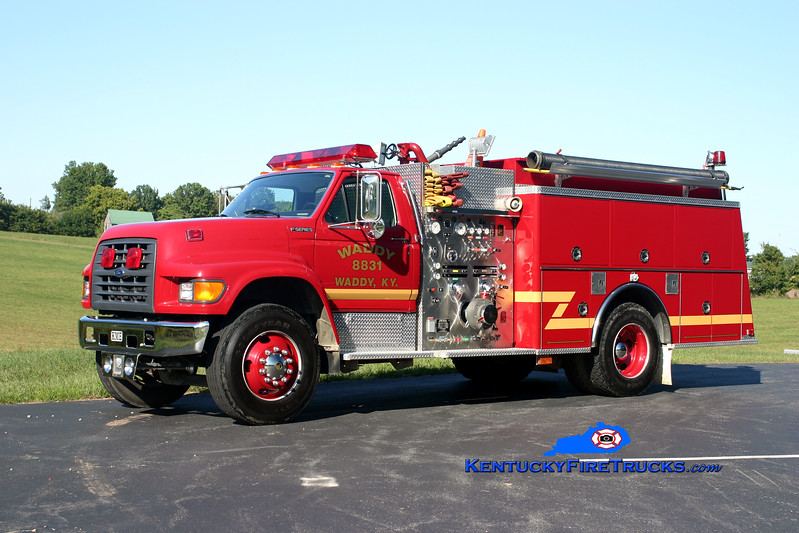 <center> Waddy  Engine 8831  <br> 1997 Ford F-750/KME 1250/1000 <br> Kent Parrish photo </center>