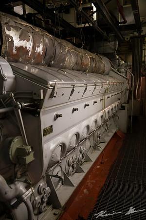 Engine detail on the John J. Boland