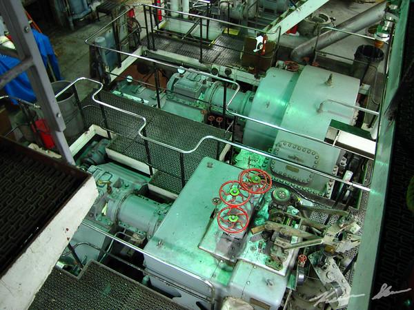 The Edward L. Ryerson's GE steam turbine engine