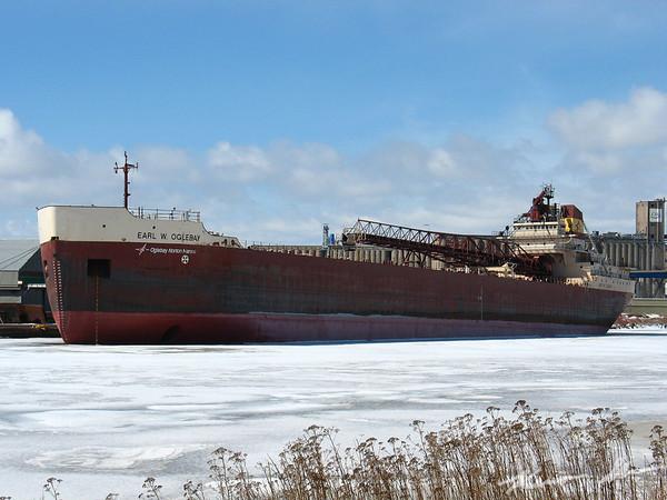 Earl W. Oglebay in lay up at Fraser Shipyards just a few months bfore Oglebay Norton Marine folded its operations