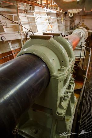 Propeller shaft detail - American Victory