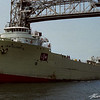 Cement carrier J.A.W. Iglehart during her final years of sailing (film scan)