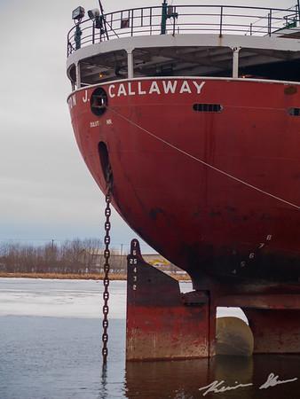 Stern of the Cason J. Callaway
