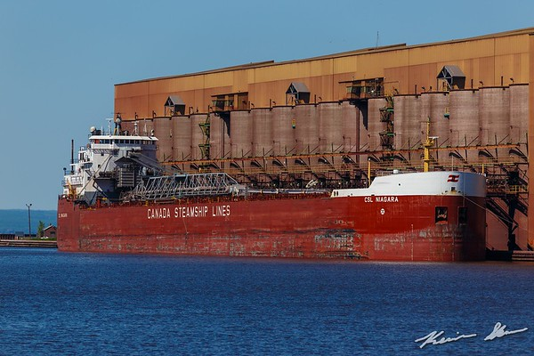 CSL Niagara waiting to load at the BNSF ore dock