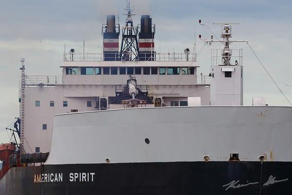 American Spirit making the turn to depart Duluth