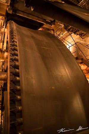 Loop belt self-unloading system onboard the American Century