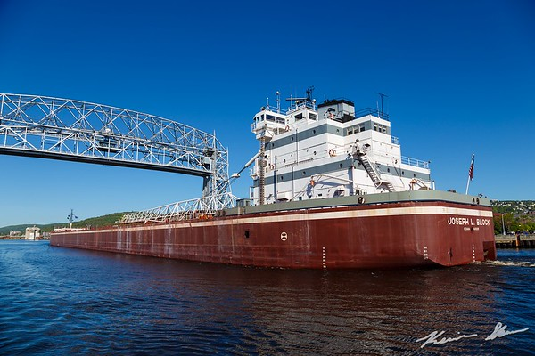 Joseph L. Block inbound Duluth on a sunny morning
