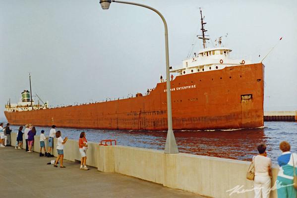 Kinsman Enterprise arriving on a summer afternoon. Scrapped in 2002 (film scan)