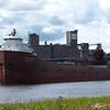 The Kaye E. Barker in long term layup at Fraser Shipyards