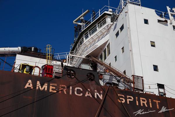 Dockside views of the American Spirit