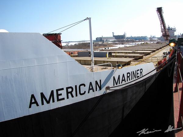 American Mariner stiring in her winter layup berth